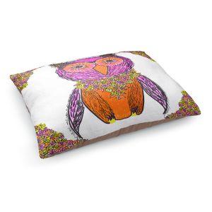 Decorative Dog Pet Beds | Susie Kunzelman - Pretty Owl 1 | animal pattern drawn bird
