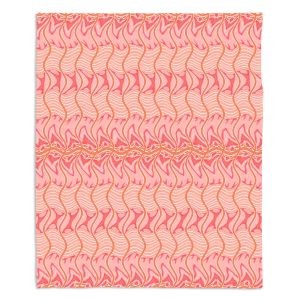 Decorative Fleece Throw Blankets | Susie Kunzelman - Pretty Petals | Colorful abstract pattern