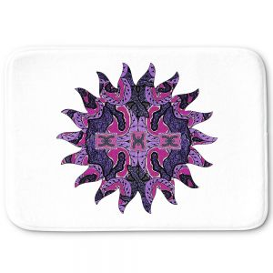 Decorative Bathroom Mats | Susie Kunzelman - Purple Maze Sun