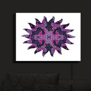 Nightlight Sconce Canvas Light | Susie Kunzelman - Purple Maze Sun | Patterns Abstract