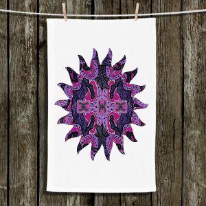 Unique Bathroom Towels | Susie Kunzelman - Purple Maze Sun