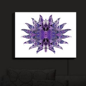 Nightlight Sconce Canvas Light | Susie Kunzelman - Purpleliscious Sun | Patterns Abstract