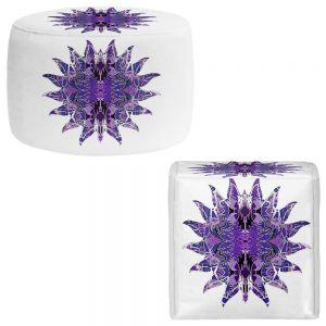Round and Square Ottoman Foot Stools | Susie Kunzelman - Purpleliscious Sun