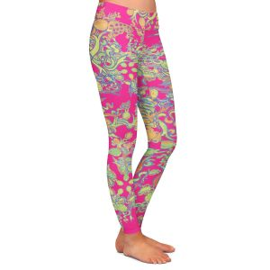Casual Comfortable Leggings   Susie Kunzelman - Rainbow Garden