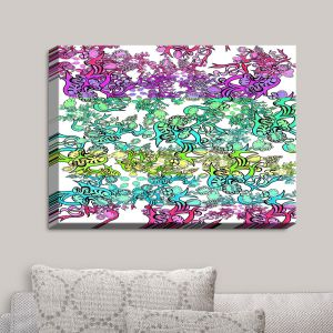 Decorative Canvas Wall Art | Susie Kunzelman - Rainbow Ribbons Cool | Patterns