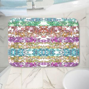 Decorative Bathroom Mats | Susie Kunzelman - Rainbow Ribbons Pastel