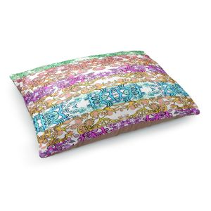 Decorative Dog Pet Beds | Susie Kunzelman - Rainbow Ribbons Pastel