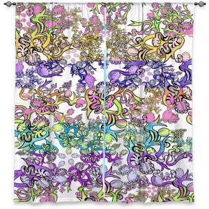Decorative Window Treatments | Susie Kunzelman - Rainbow Ribbons Pastel White