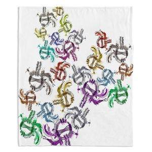 Decorative Fleece Throw Blankets | Susie Kunzelman - Raindance l | Patterns Southwest