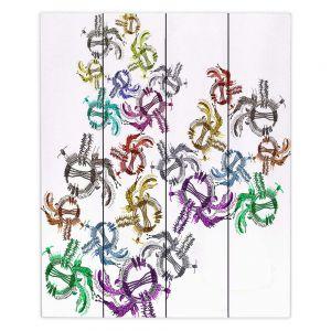 Decorative Wood Plank Wall Art   Susie Kunzelman - Raindance l   Patterns Southwest