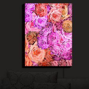 Nightlight Sconce Canvas Light | Susie Kunzelman - Roses Pinks Salmon