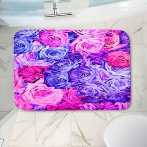 Decorative Bathroom Mats | Susie Kunzelman - Roses Purples Pinks | Flower Floral