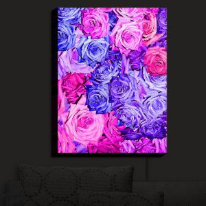 Nightlight Sconce Canvas Light | Susie Kunzelman - Roses Purples Pinks