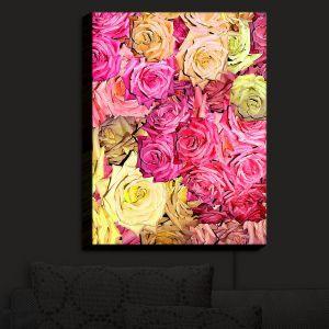 Nightlight Sconce Canvas Light | Susie Kunzelman - Roses Yellow Pinks