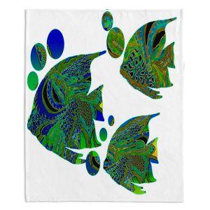 Decorative Fleece Throw Blankets   Susie Kunzelman - Sailfish II