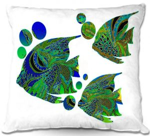 Throw Pillows Decorative Artistic | Susie Kunzelman's Sailfish II