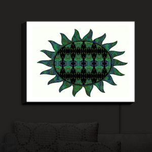 Nightlight Sconce Canvas Light | Susie Kunzelman - Sailors Sea Sun | Patterns Abstract