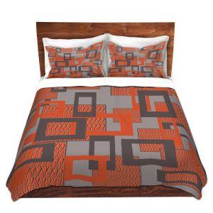 Artistic Duvet Covers and Shams Bedding | Susie Kunzelman - Settled | Square pattern