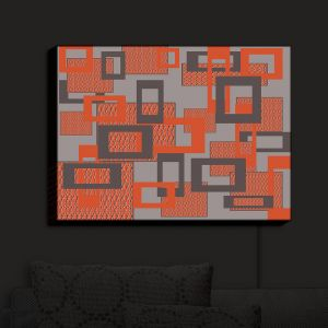 Nightlight Sconce Canvas Light | Susie Kunzelman - Settled | Square pattern