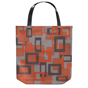 Unique Shoulder Bag Tote Bags | Susie Kunzelman - Settled | Square pattern