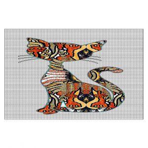 Decorative Floor Coverings | Susie Kunzelman - Sleek Kitty