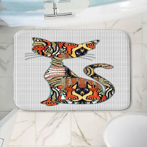 Decorative Bathroom Mats | Susie Kunzelman - Sleek Kitty