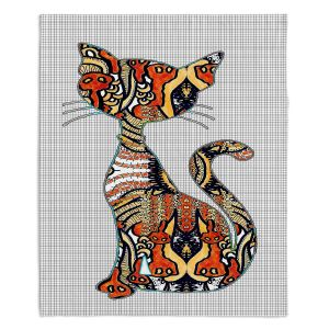 Decorative Fleece Throw Blankets | Susie Kunzelman - Sleek Kitty