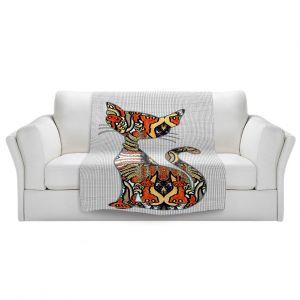 Artistic Sherpa Pile Blankets | Susie Kunzelman - Sleek Kitty