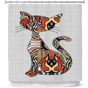 Premium Shower Curtains   Susie Kunzelman - Sleek Kitty