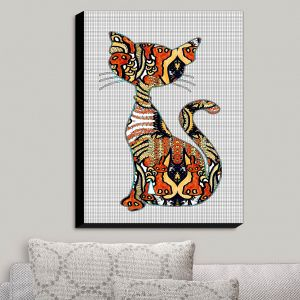 Decorative Canvas Wall Art | Susie Kunzelman - Sleek Kitty | Kitty Cat Animals