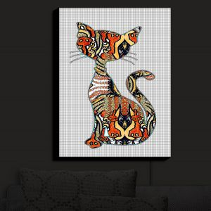 Nightlight Sconce Canvas Light | Susie Kunzelman - Sleek Kitty | Kitty Cat Animals