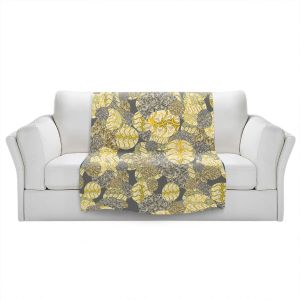 Artistic Sherpa Pile Blankets | Susie Kunzelman - Spinners Autumn | Abstract