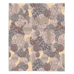 Decorative Fleece Throw Blankets | Susie Kunzelman - Spinners Grey | Abstract