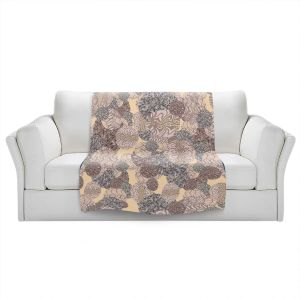 Artistic Sherpa Pile Blankets | Susie Kunzelman - Spinners Grey | Abstract