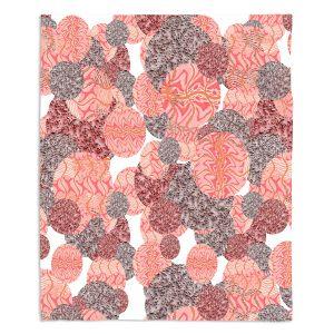 Decorative Fleece Throw Blankets | Susie Kunzelman - Spinners Mango | Abstract
