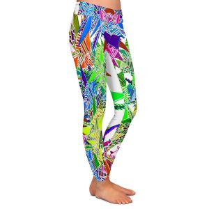 Casual Comfortable Leggings | Susie Kunzelman - Stained Glass | Abstract Geometric Colorful