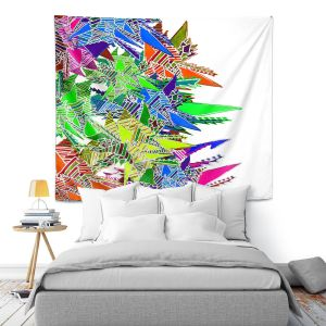 Artistic Wall Tapestry | Susie Kunzelman - Stained Glass | Abstract Geometric Colorful