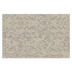 Decorative Floor Covering Mats | Susie Kunzelman - Strange Trip Tan | Simple abstract pattern