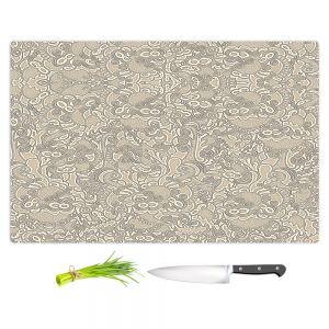 Artistic Kitchen Bar Cutting Boards | Susie Kunzelman - Strange Trip Tan | Simple abstract pattern
