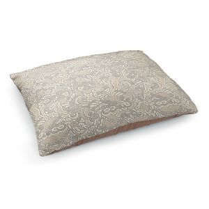 Decorative Dog Pet Beds | Susie Kunzelman - Strange Trip Tan | Simple abstract pattern