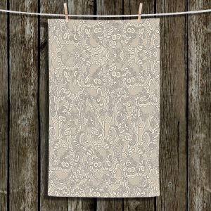 Unique Hanging Tea Towels | Susie Kunzelman - Strange Trip Tan | Simple abstract pattern