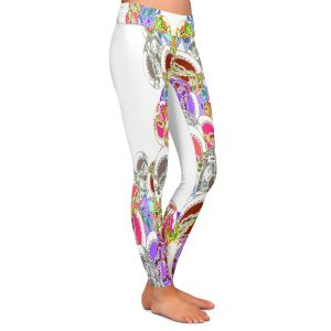 Casual Comfortable Leggings | Susie Kunzelman - Sugar Babies l | Abstract Colorful