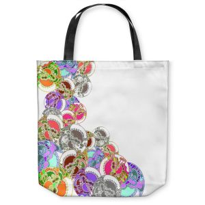 Unique Shoulder Bag Tote Bags | Susie Kunzelman - Sugar Babies l | Abstract Colorful