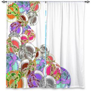 Decorative Window Treatments | Susie Kunzelman - Sugar Babies l | Abstract Colorful