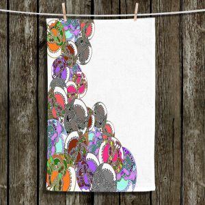Unique Bathroom Towels | Susie Kunzelman - Sugar Babies ll | Abstract Colorful