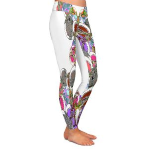Casual Comfortable Leggings | Susie Kunzelman - Sugar Babies ll | Abstract Colorful