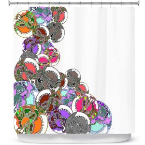 Premium Shower Curtains | Susie Kunzelman - Sugar Babies ll | Abstract Colorful