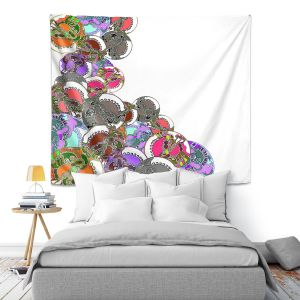Artistic Wall Tapestry | Susie Kunzelman - Sugar Babies ll | Abstract Colorful