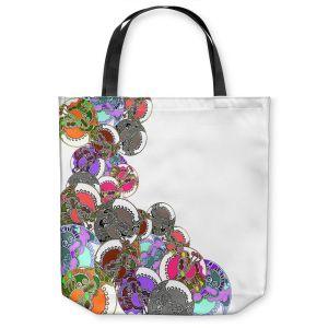 Unique Shoulder Bag Tote Bags | Susie Kunzelman - Sugar Babies ll | Abstract Colorful