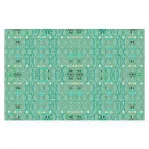 Decorative Floor Covering Mats | Susie Kunzelman - Summers End Aqua | Pattern repetition